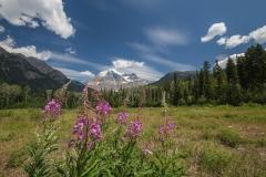 Blick-zum-Gipfel-Mount-Robson-Kanada